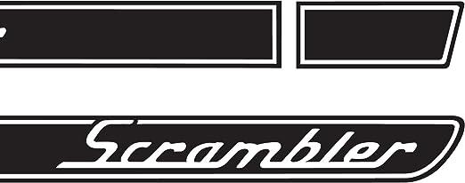The Pixel Hut gs00190 Matte Black Scrambler Retro Hood Decals for Jeep Wrangler JK single color 2007-2018