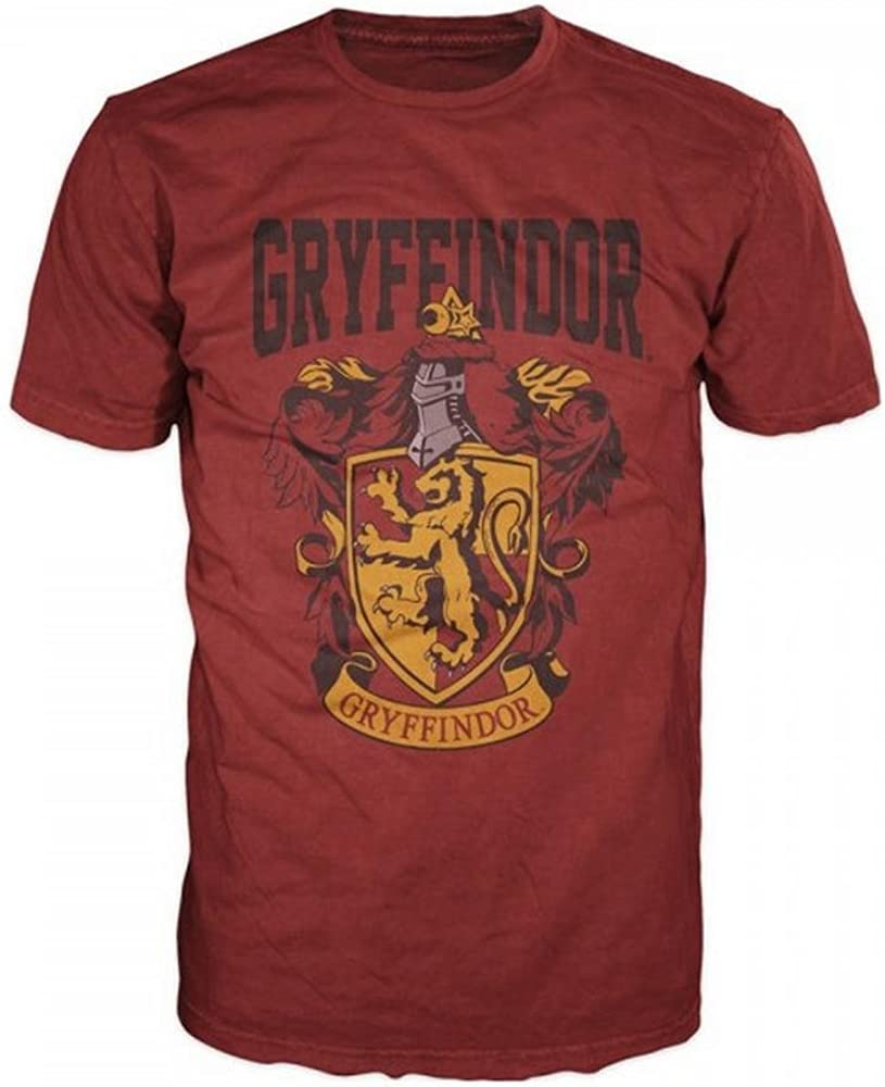 76110b77 Amazon.com: Harry Potter- Gryffindor Shield T-Shirt Size S,red: Clothing