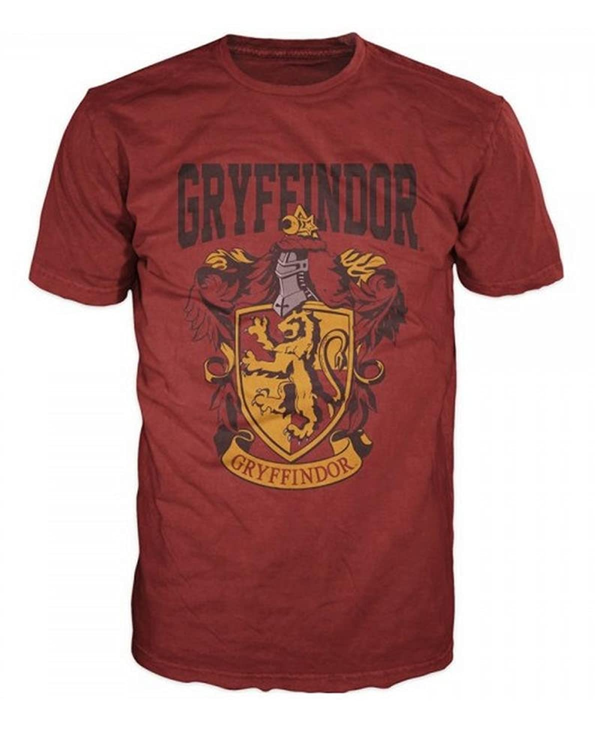 Amazon.com: Bioworld Harry Potter Gryffindor Mens Red T-Shirt ...