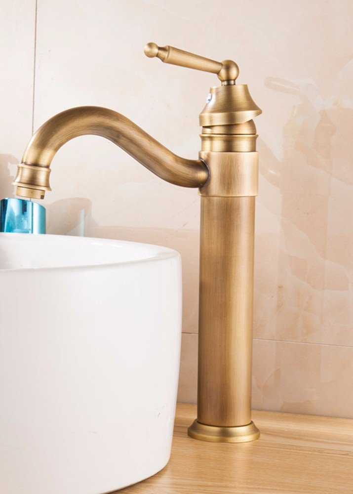2 Hlluya Professional Sink Mixer Tap Kitchen Faucet Copper, hot and cold, high, Single Hole bathroom sink faucet, 5