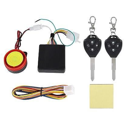 125dB 12V Alarma de la motocicleta, Sistema antirrobo de ...