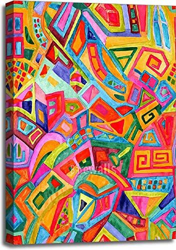 Barewalls Seamless Geometric Pattern Gallery Wrapped Canvas Art (36 in. x 24 in.)
