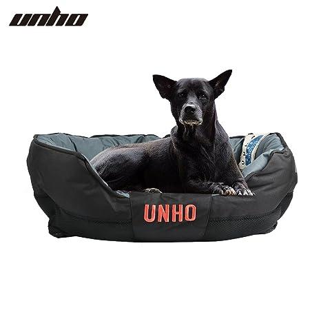 UNHO Cama para Perros Cómodo Casa para Mascotas Cojín Desmontable Impermeable y Lavable para Perro Gato