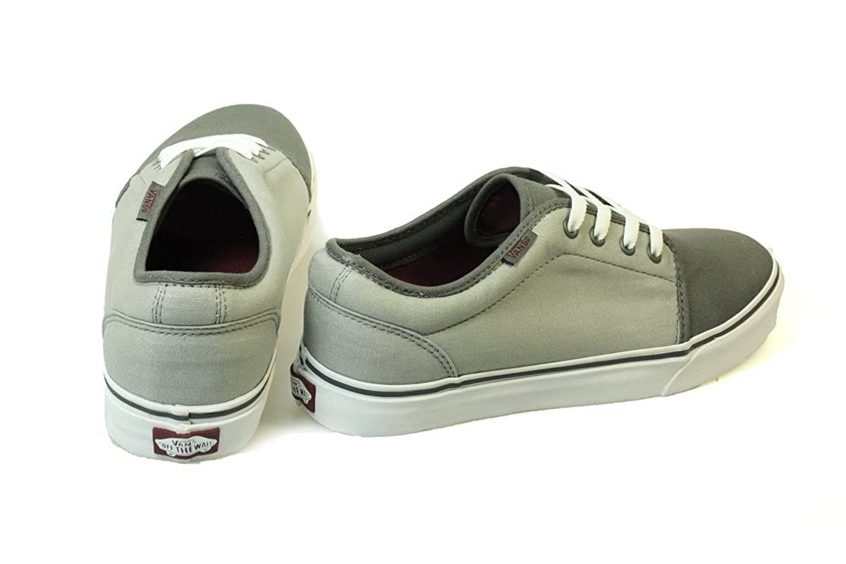 b41e3d814f63 Vans 106 Vulcanized VNJNLN1 Unisex Pewter Ash Gray Canvas Skate Trainers UK  12  Amazon.co.uk  Shoes   Bags