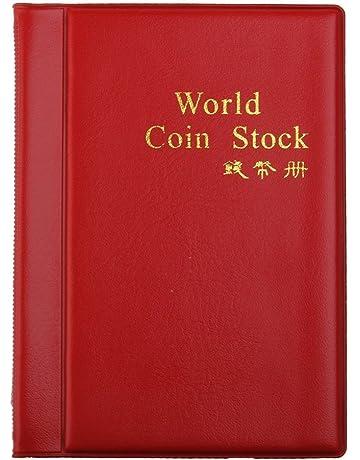 147dd29823 LEORX Moneta Album Moneta tasche 120 moneta titolari collezione Storage  Album libro