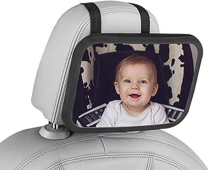GELUPU Miroir auto b/éb/é miroir de r/étroviseur de si/ège arri/ère pour b/éb/és b/éb/é vue arri/ère miroir 10.0 pouces Universel de miroir r/étroviseurs pour voiture 360 /° pivotant no