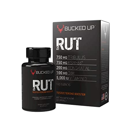 RUT – Testosterone Booster – Best All-Natural Test Formula for Men – Energy, Endurance, Strength, and Stamina Booster – Fast Muscle Growth – Male Supplements 90 Capsules Pills