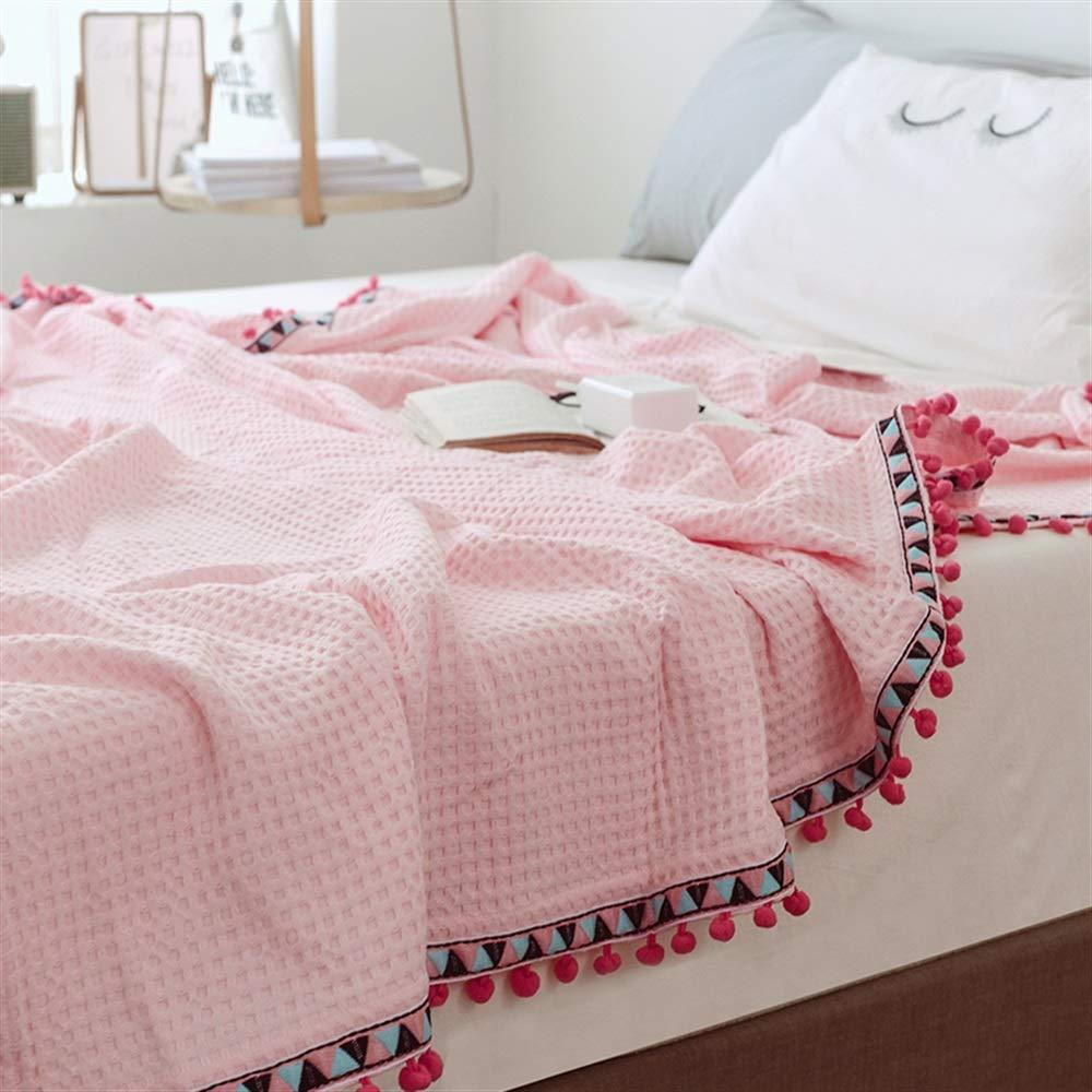 Yunyilian シンプルなソリッドカラーワッフル毛布シングル毛布オフィスソファ昼寝毛布 (サイズ : L200*230) B07QMDN4S9  L200*230