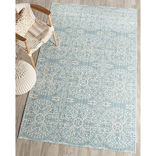 Safavieh Valencia Collection VAL214G Alpine and Cream Vintage Distressed Silky Polyester Area Rug 3 x 5