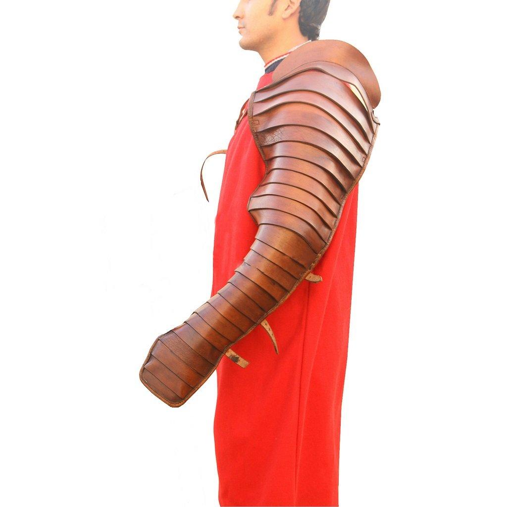 Deepeeka AH6231L - Gladiator Leather Arm Guard (Segmentata)