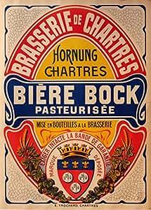 Cerveza Bock, Francia, Reproducción sobre Calidad 200gsm de espesor en Cartel A3 Tarjeta Brillante