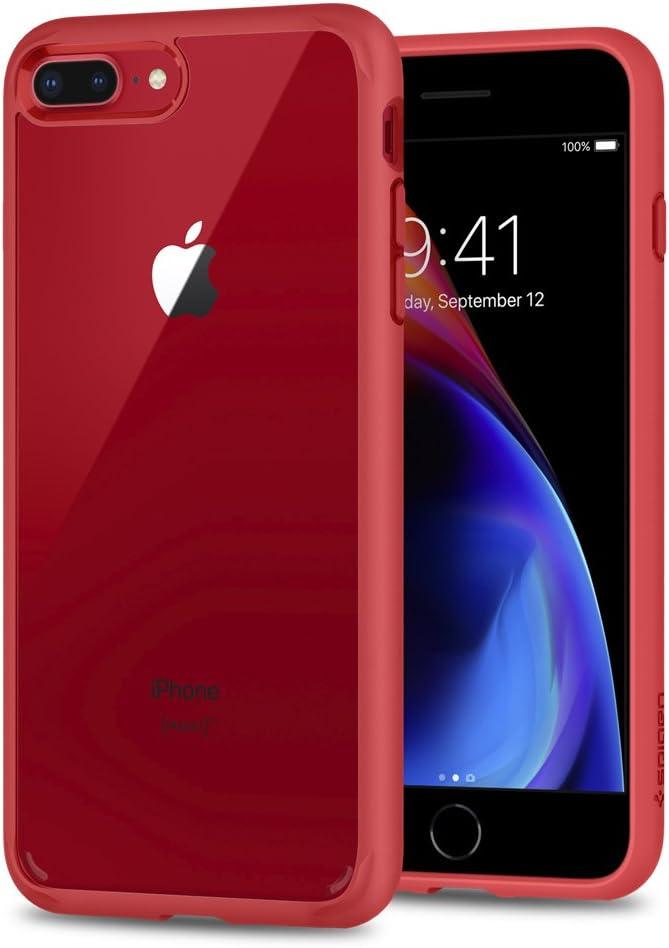 Spigen Ultra Hybrid [2nd Generation] Designed for iPhone 8 Plus Case (2017) / Designed for iPhone 7 Plus Case (2016) - Red