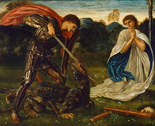 edward-burne-jones-st-george-and-the-dragon-size-20x24-inch-poster-art-print-wall-decor