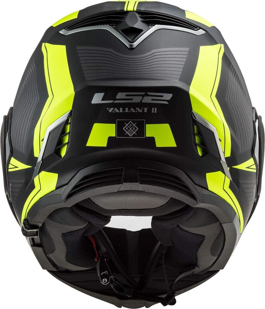 LS2 Motorradhelm FF900 VALIANT II REVO BLACK H-V YELLOW S Schwarz//Gelb