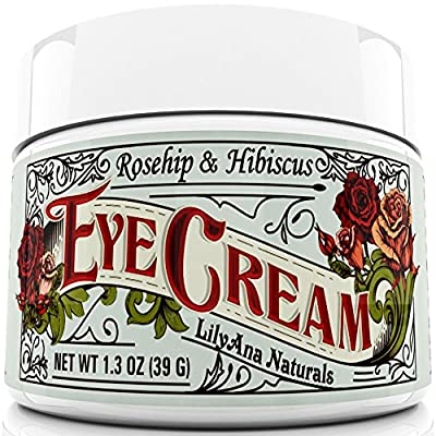 Eye Cream Moisturizer (1.3 oz) 94% Natural Anti Aging Skin Care from Lilyana Naturals