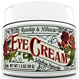 Best Eye Cream for Dark Circles and Puffiness Eye Cream Moisturizer (1.3 oz) 94% Natural Anti Aging Skin Care