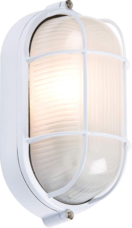 230 V, IP65, 60 W, B22, con difusor prism/ático transparente y base de pl/ástico negro mamparo Knightsbridge