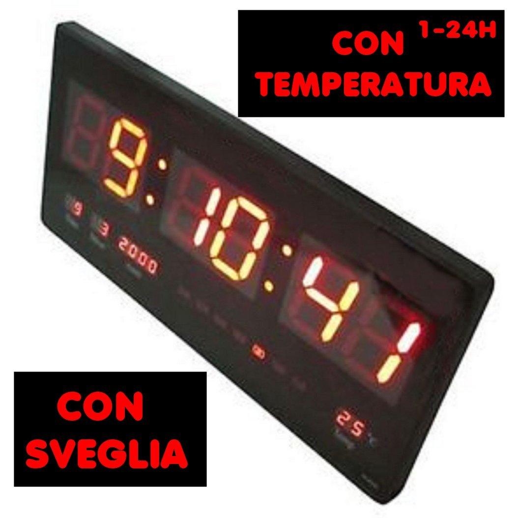 Uhr Digital LED 36 x 15 Wanduhr mit Temperatur ideal für Büro ...