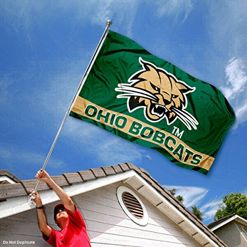 Ohio Bobcats Double Sided Flag College Flags and Banners Co
