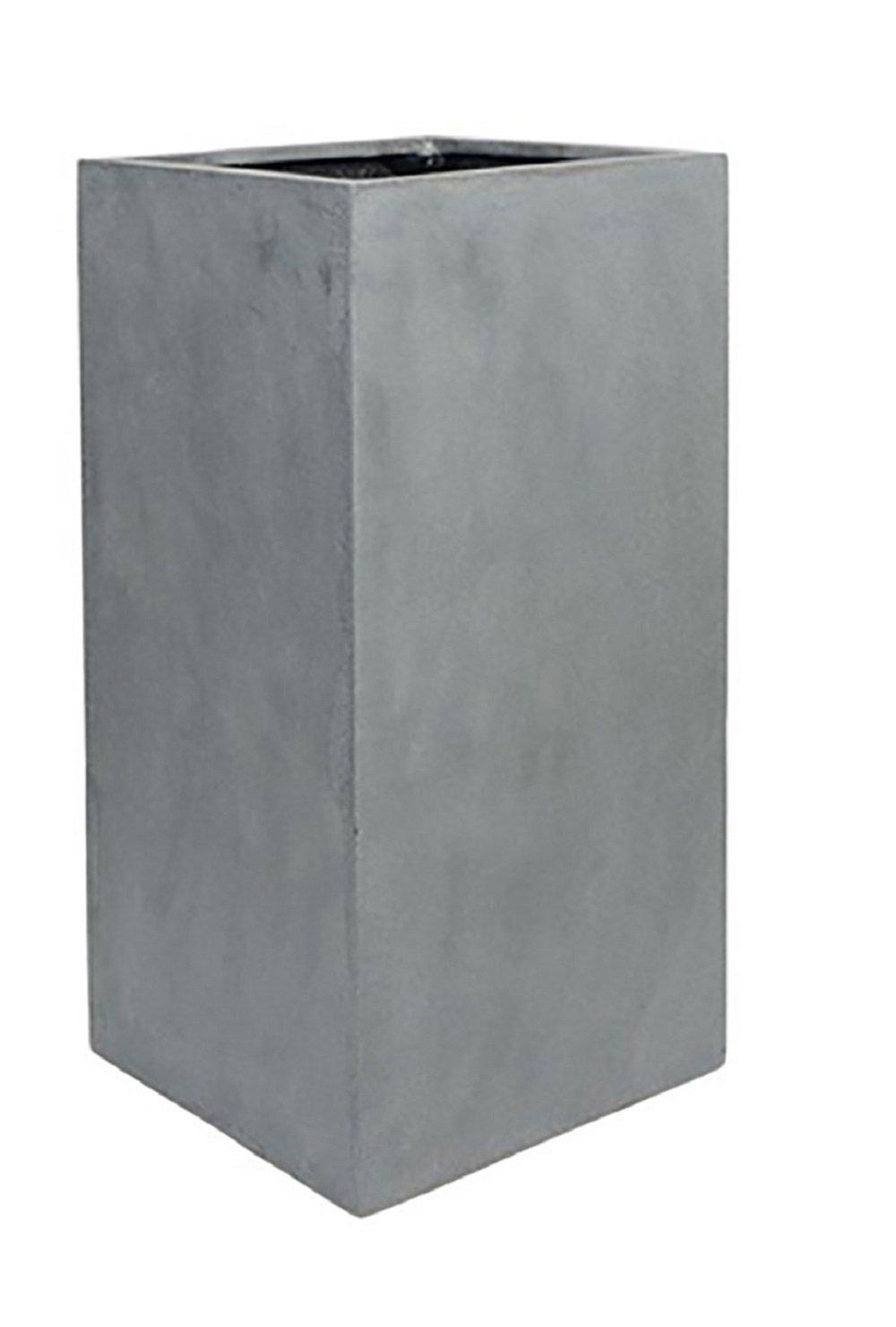 Elegant Tall Planter Sleek Grey Square Flower Pot Stand 31.5''H x 16''L X 16''W