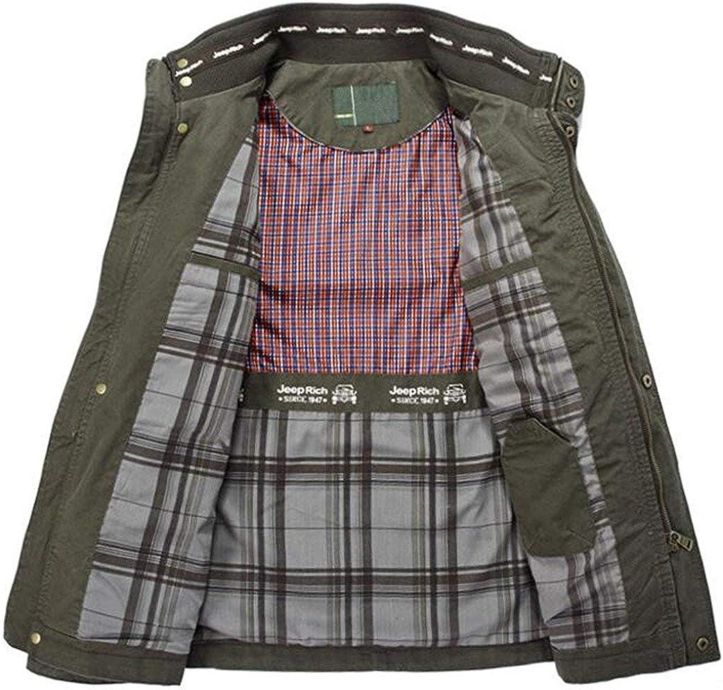 Coton Classique Loisirs Taille Militaire Armée de fête Tailles Vêtements Vestes Manteaux Manteau Bomber pour Hommes Parka Rugged Veste Coupe Vent Grün
