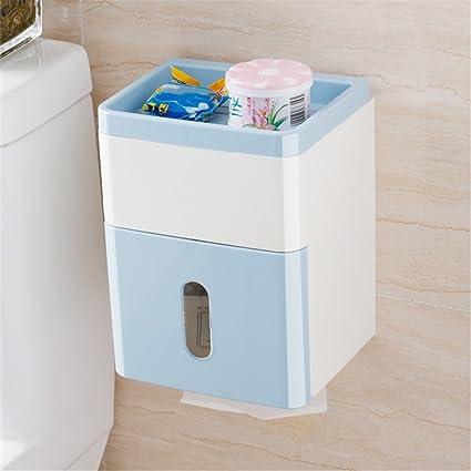 XINLE Caja Impermeable de Doble Pared de baño Toalla Plataforma Multifuncional, Sala de Estar,