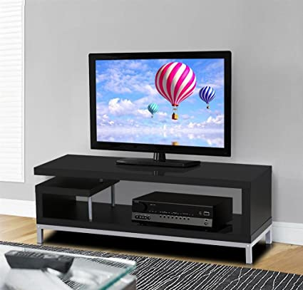 buy online 23a4a e77e7 Topeakmart Modern TV Stand Console Table Home Entertainment Center Cabinet  for 45 Inch Flat Screen TV, Black