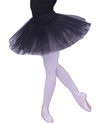 42418f1da woosun Ladies Professional Ballet Tutu Adult 5Layers Organdy Platter Dance  Costume Tutus Skirt Black