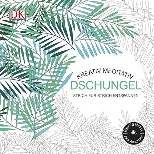 Kreativ meditativ Dschungel: Strich für Strich entspannen