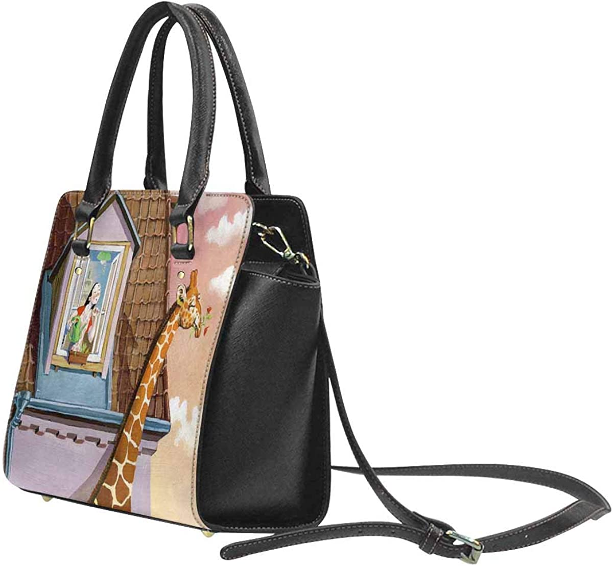 INTERESTPRINT Banner Flyer Or For Halloween Ladies Purse PU Leather Shoulder Bags Satchel Bags
