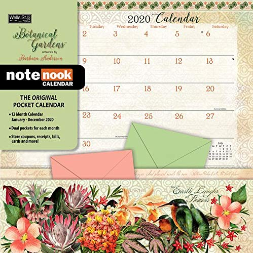 Calendar With Pockets (Botanical Gardens 2020 Pocket Wall)