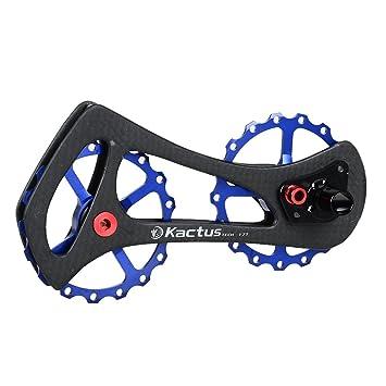 Polea de caja de cambio ciclismo de carretera de carbono rodamientos de cerámica para desviador trasero Shimano 6800 6870 9000 9070 Dura Ace,Ultegra,60g: ...