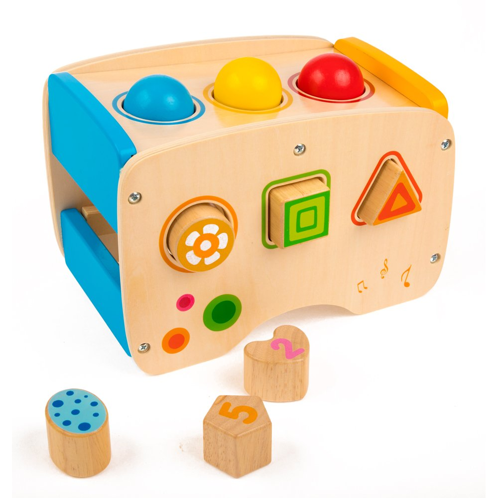 rolimate Wooden Learning Hammering & Pounding Toys + 8 Notes Xylophone + Shape Color Recognition, Best Birthday Gift Toy for Age 1 2 3 Years Old and Up Kid Children Baby Toddler Boy Girl by rolimate (Image #4)