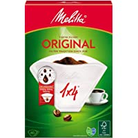 Melitta Original 1 x 4 Coffee Filters - Pack of 40 Filters, White