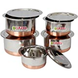 HAZEL Copper Bottom Tope with Lid - 5 Pcs Set S10-14 Stainless Steel Tope