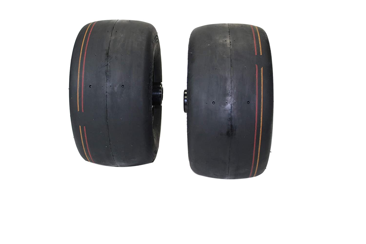 13x6.50-6 4 Ply Smooth with 6x4.5 Black Wheel Assembly Set of 2