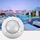 OSALADI LED Underwater Lamp Waterproof Pool Wall-mounted Light 12V 12W Swimming Pool Light Pond Light (White Light)