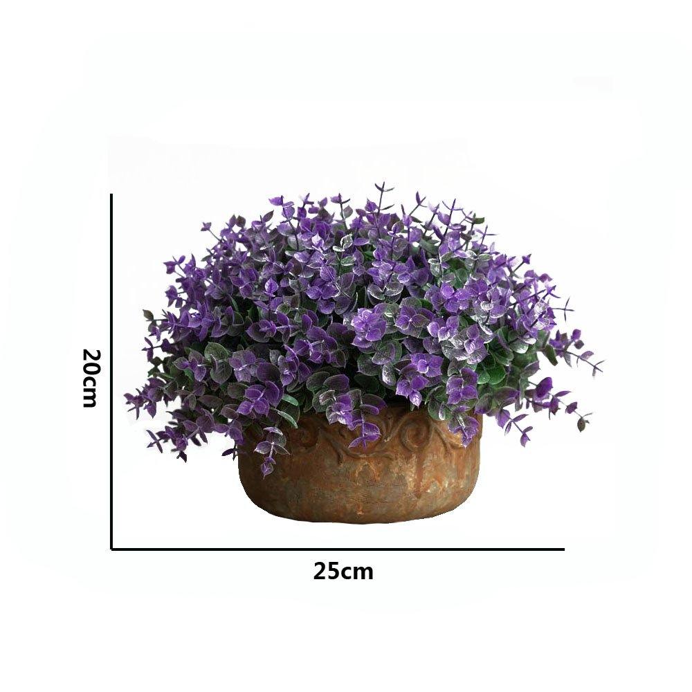 KAIMO artificial decorative plant lucky grass bonsai potted plant garden room hotel company school decoration - purple by KAIMO (Image #2)