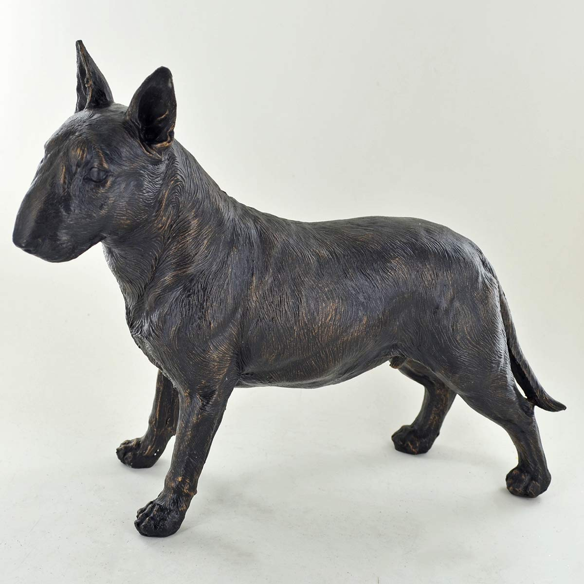 /Pet Gifts D/émarquer Home Decor H19/cm com Grande Bull Terrier Debout Painted Bronze Sculpture en r/ésine/ Prezents