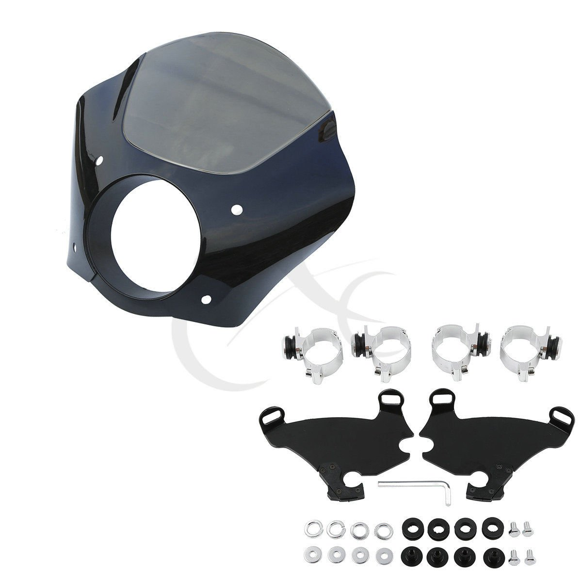 XFMT Gauntlet Fairing & Lock Mount Kit For Harley Dyna FXDL Sportster XL883L 1200X