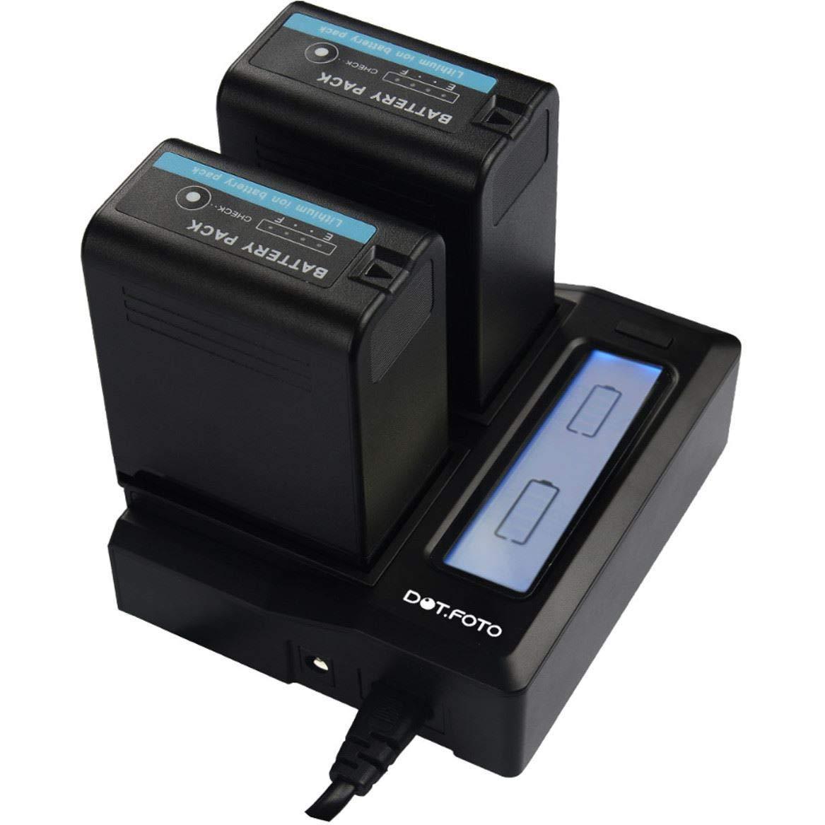 Dot Foto Panasonic CGR-D08S CGR-D16S CGR-D28S CGR-D54S CGR-D110 CGR-D120 CGR-D220 CGR-D320 Dual Battery Charger Mains 12v USB Output See Description for Compatibility