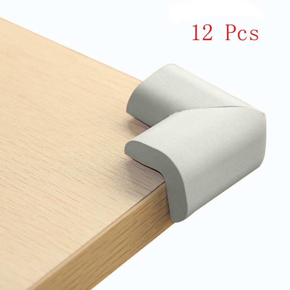 Juego de 12 protectores anticolisi/ón para beb/és TianranRT para mesa o escritorio de cristal Beige
