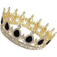 FRCOLOR Rhinestone Barroco Corona de Aleación de Cristal Nupcial Boda Tiara Corona Reina Princesa Tocado Joyería para…