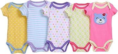 KINLOU Body para Bebés Niños y Niñas - Recién Nacido Pijamas ...