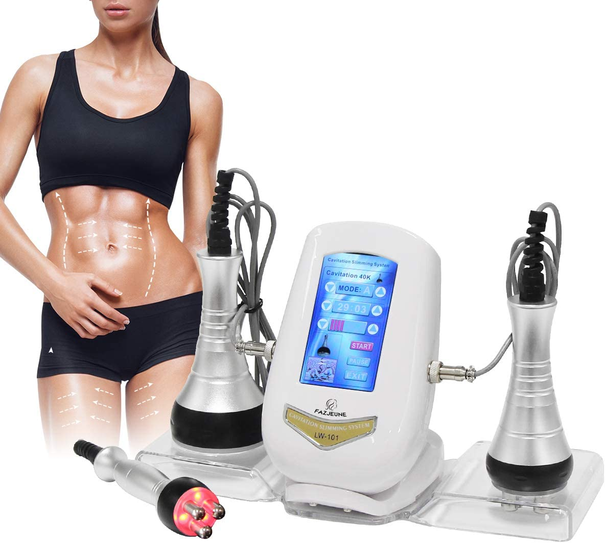 FAZJEUNE 40K Fat Massage Tools, Multifunctional Body Facial Beauty Massager Face Skin Care Facial Lifting Face Smooth Skin Line for Neck Waist Thigh and Buttock 3 in1 Machine