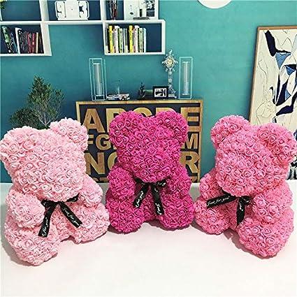 Delidraw Rose Fleur Amour Ours d/écoration de la Mariage mari/ée Anniversaire Cadeaux de Saint Valentin Rouge,Rose Flower Bear,Fashion Fully Assembled Bear,Best Gift for Valentines Day