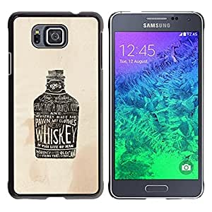 Be Good Phone Accessory // Hard Shell Protective Cover Case for Samsung GALAXY ALPHA G850 // Whiskey Brown Drunk Drinking Party