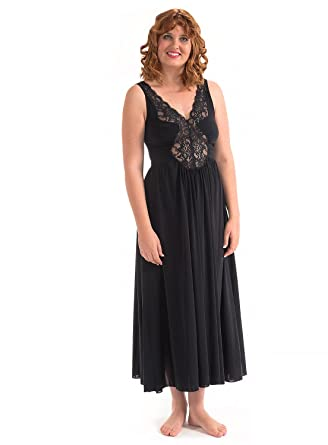 Precious Curves Women s Princess Full Length Nightgown at Amazon Women s  Clothing store  b12861e7a