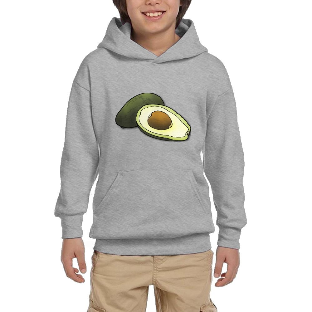GLSEY Avocado Healthy Food Youth Soft Pullovers Hooded Sweatshirts Long Sleeve