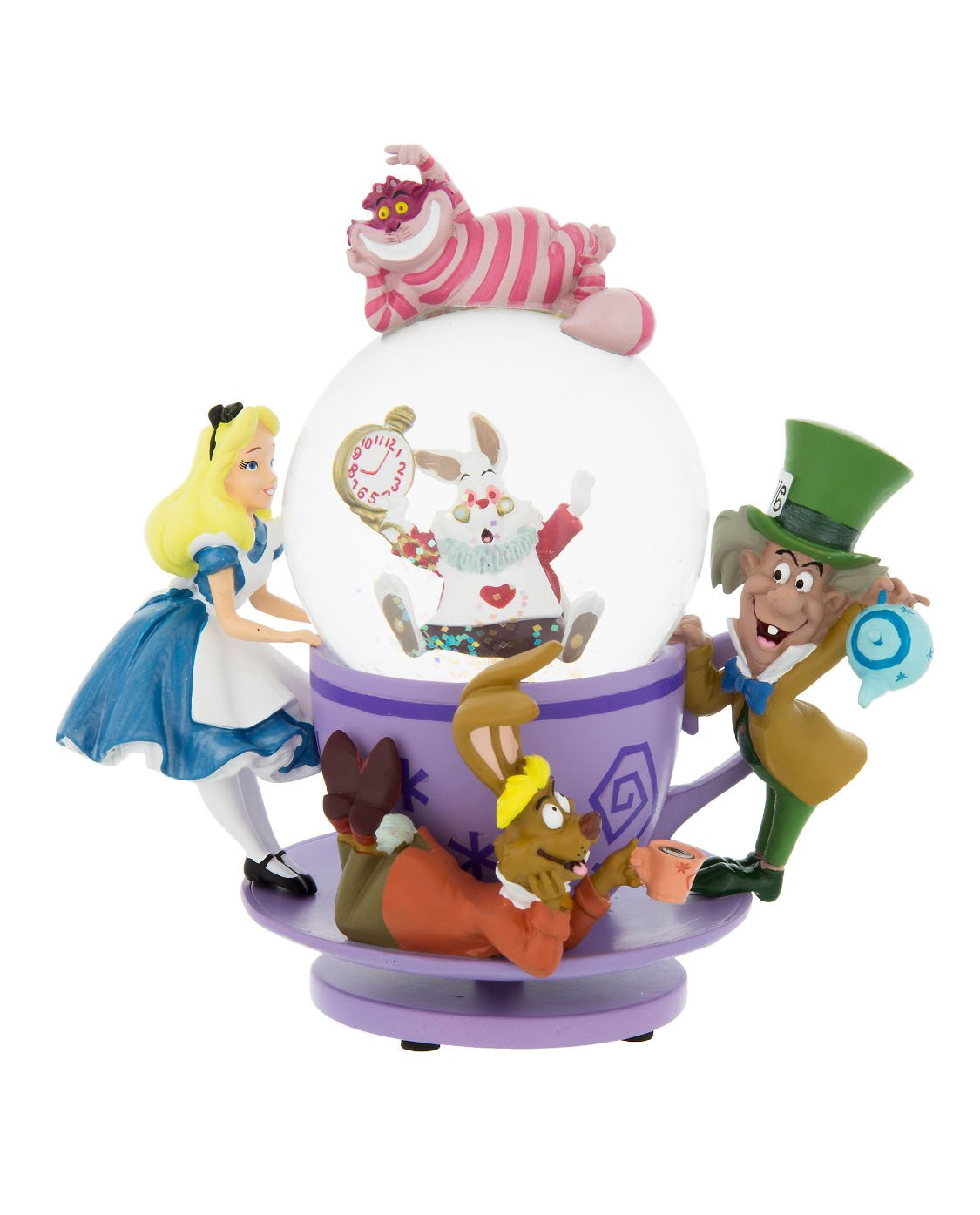 Disney Parks Exclusive Alice in Wonderland Tea Party Spinning Snowglobe